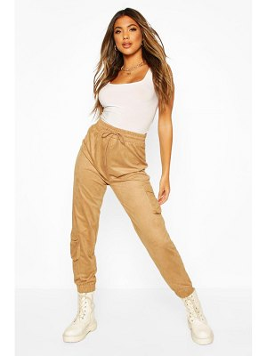 Boohoo Suedette Utility Jogger