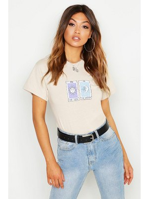Boohoo Sun Moon Slogan T-Shirt