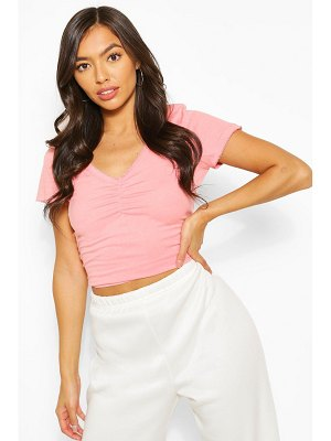 Boohoo Sweetheart Neck Ruched Detail Top