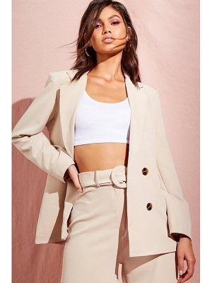 Boohoo Tailored Button Front Blazer