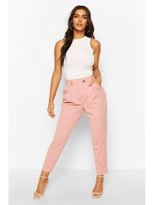 Boohoo Tailored Crepe Carrot Leg Trouser