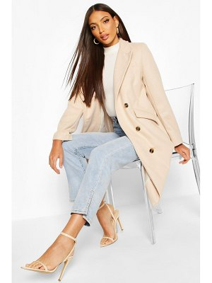 Boohoo Tailored Double Breasted Wool Look Coat