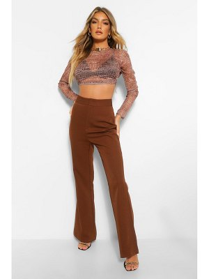 Boohoo Tailored Fit And Flare Trouser