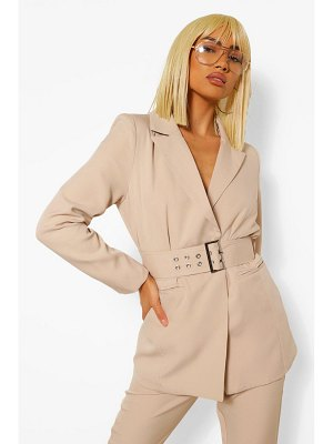 Boohoo Tailored Oversized Buckle Fitted Blazer