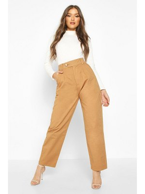 Boohoo Tailored Pleat Front Denim Trouser