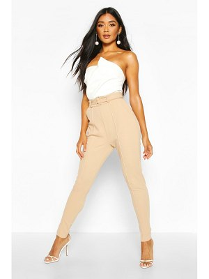 Boohoo Tailored Skinny Self Belt pants