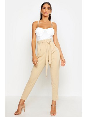 Boohoo Tailored Tie Waist Slim Fit Pants