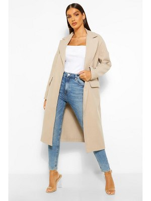 Boohoo Tailored Wool Look Boyfriend Coat