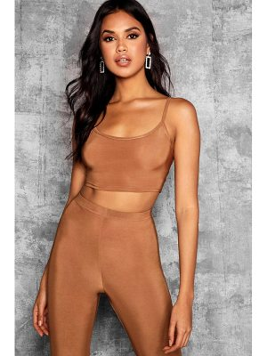 Boohoo Tall Strappy Slinky Crop Top