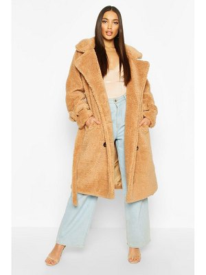 Boohoo Teddy Faux Fur Trench Coat