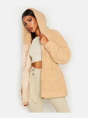 Boohoo Teddy Faux Fur Utility Jacket
