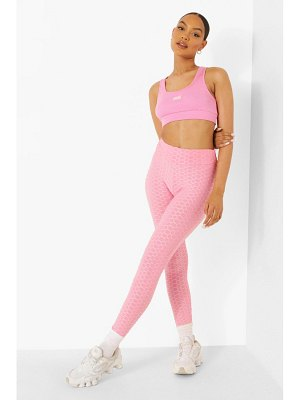 Boohoo Textured Ruched Bum Booty Boosting Leggings