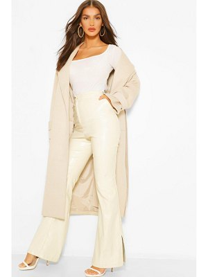 Boohoo Textured Twill Wool Look Trench Coat