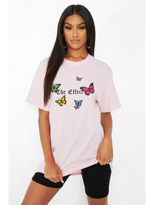 Boohoo 'The Effect' Butterfly Print T-Shirt