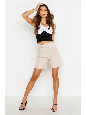 Boohoo The Tailored Belted City Short