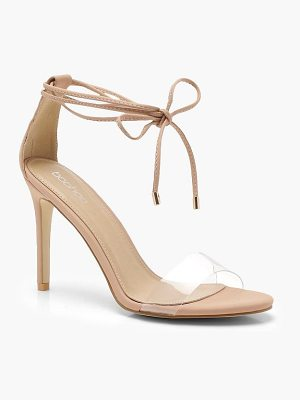 Boohoo Wrap Ankle Clear Strap Sandals