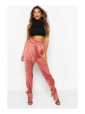 Boohoo Tie Ankle Luxe Utility Jogger