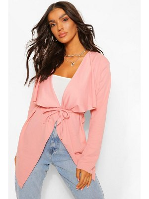Boohoo Tie Detail Waterfall Duster