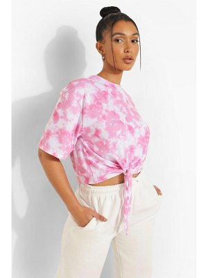 Boohoo Tie Dye Graphic Back Tie Front T-Shirt