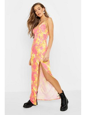 Boohoo Tie Dye Shearing Maxi Dress