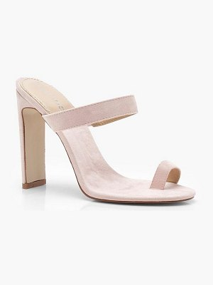 Boohoo Toe Post Mule Heels