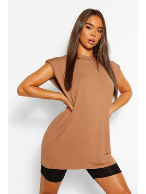 Boohoo Tunic Shoulder Pad T- Shirt