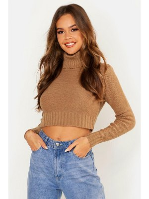 Boohoo Turtle Neck Crop Sweater