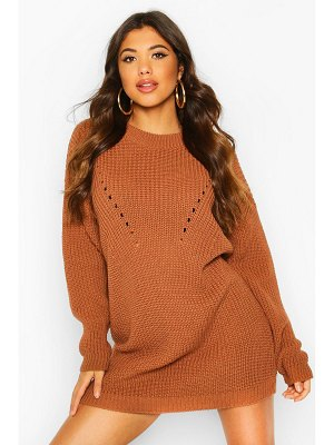 Boohoo Turtle Neck Knitted Dress