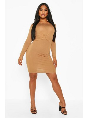 Boohoo Twist Detail Jersey Dress
