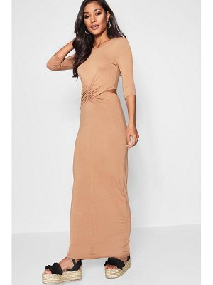 Boohoo Twist Knot Front Maxi Dress