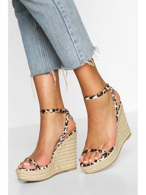 Boohoo Two Part Espadrille Wedges