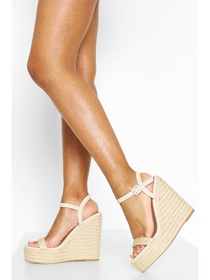 Boohoo Two Parts Espadrille Wedges