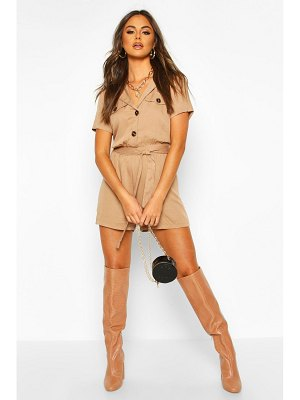 Boohoo Utility Button Front romper