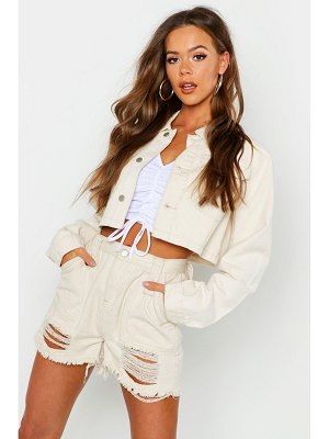 Boohoo Utility Cropped jean jacket