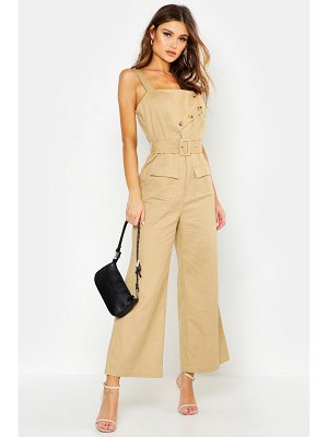Boohoo Utility Detail Belted Jumpsuit