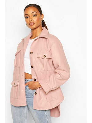 Boohoo Utility Pocket Shacket