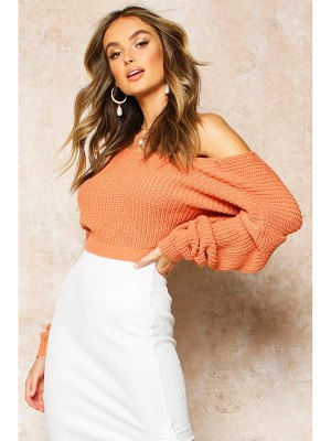 Boohoo V-Back Crop Sweater