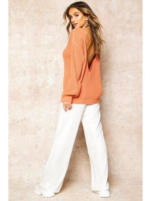 Boohoo V-Back Oversized sweater