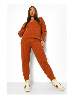 Boohoo V Neck Knitted Two-Piece