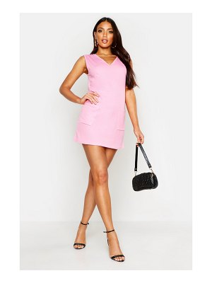 Boohoo V-Neck Plunge Mini Dress