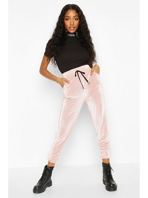 Boohoo Velour Cord Effect Jogger With Pocket Detail