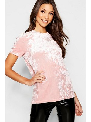 Boohoo Velour T-Shirt