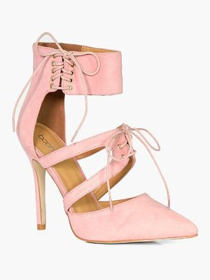 Boohoo Ankle Detail Wrap Up Court Shoes