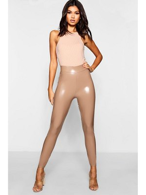 Boohoo High Waist Stretch Vinyl Leggings