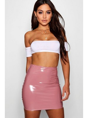 Boohoo High Waist Vinyl Mini Skirt