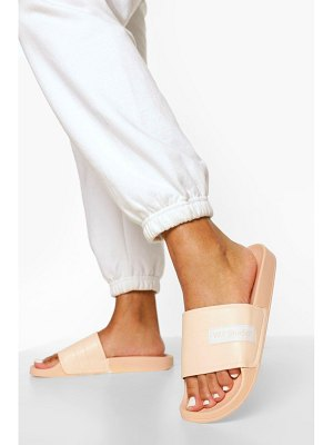 Boohoo W Studio Embossed Sliders