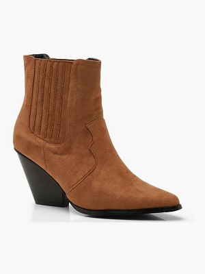 Boohoo Western Style Ankle Boots