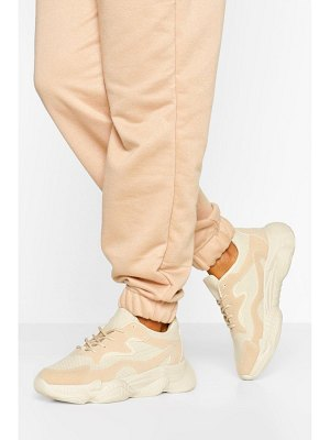 Boohoo Wide Width Chunky Sole Sneakers