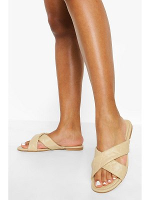 Boohoo Wide Width Crossover Quilt Mule
