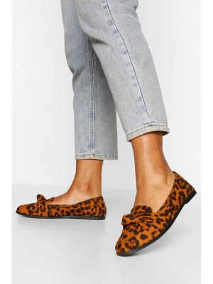 Boohoo Wide Width Knot Front Loafer